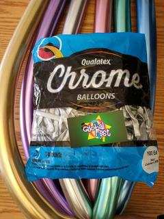 Globos Chrome Marca Qualatex Tubo 260q Paquetex100 Unidades