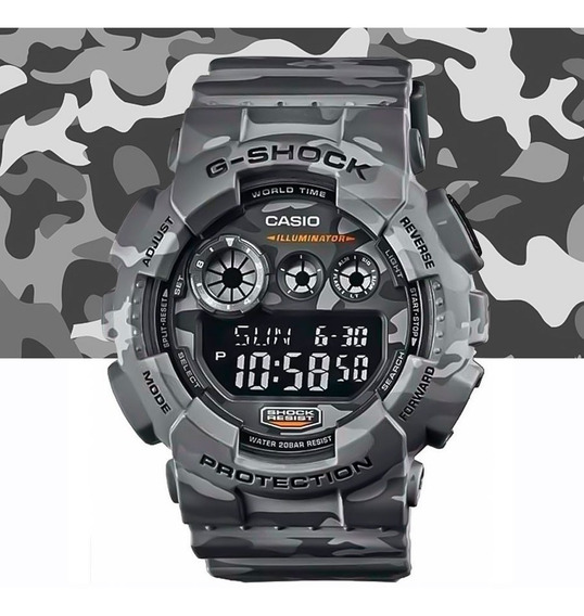 Relógio Casio G-shock Masculino Digit Gd-120cm-8dr Camuflado