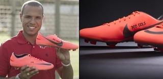 +m+ Chuteira Oficial Nike Luis Fabiano Autografada Limitada
