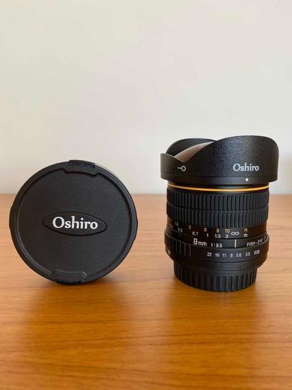 Lente Oshiro Ultrawide (fisheye), 8mm, F/3.5