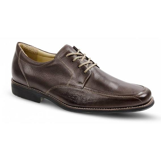Sapato Social Masculino Derby Sandro Moscoloni Calvin Marrom