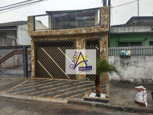 Sobrado Com 3 Dormitórios À Venda, 224 M² Por R$ 625.000 - Jardim São Judas - Mauá/sp - So0155
