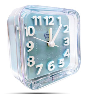 Reloj Despertador Kids Acrílico 3d Cuadrado Luz Alarma Deco