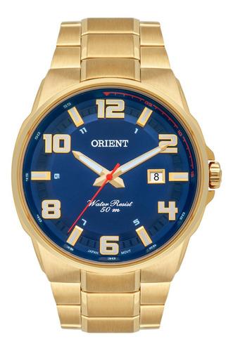 Imagem 1 de 1 de Relógio Orient Masculino Dourado Mgss1186 D2kx
