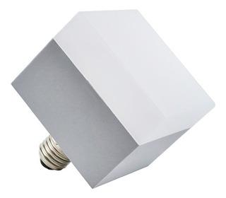 Lámpara Block Cuadrada Led E27 11w Calido Decoracion
