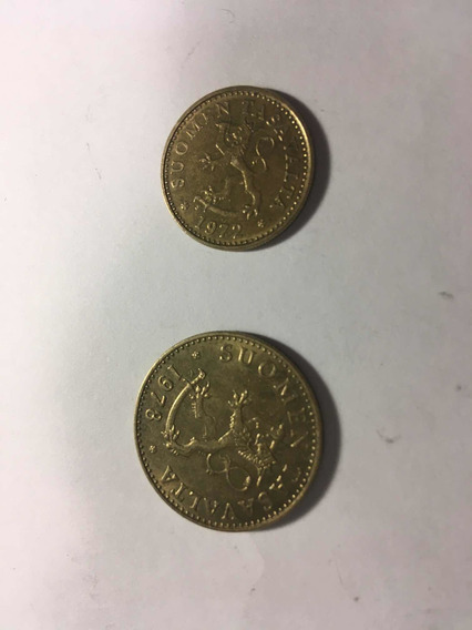 Monedas De Finlandia Años 1972 Y 1978 De 10 Y 50 Pennia