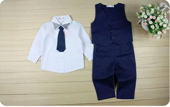Conjunto Social : Calca, Camisa, Colete E Gravata 2 Anos