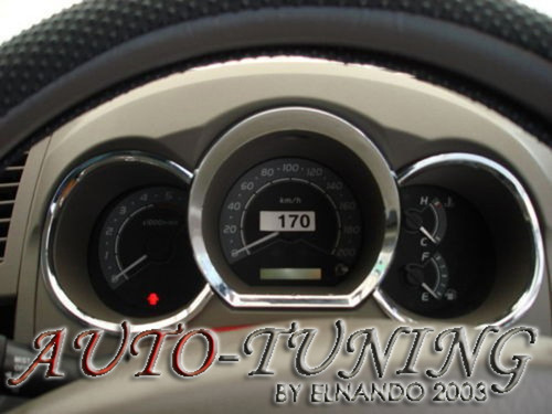 Aros De Tablero Cromado Toyota Hilux 2005 Al 2012