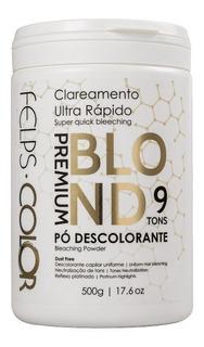 Felps Pó Descolorante Premium Blond 9 Tons 500g + Brinde