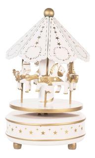 My Carrusel 2203-2 Caja Musical Bebes Niñas Baby Shower Juguetes Relajación Decoración Hogar Oficina Recamara Regalo