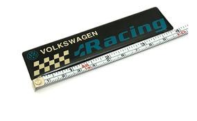 Emblema Racing Vw Golf Jetta Polo Up Gti Tsi Acessório
