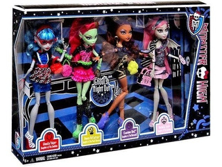 Monster High Ghouls Night Out Set De 4 Muñecas Rochelle Goyl
