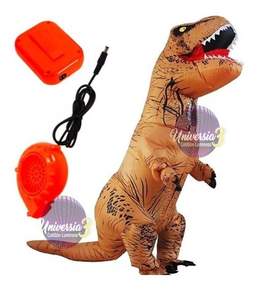 1 Traje Dinosaurio Rex Inflable + Motor Cotillon Disfraz
