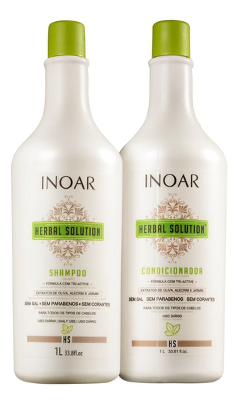 Inoar Herbal Solution Profissional Kit (2 Produtos) Blz