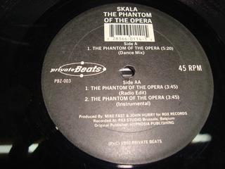 Skala Phantom Of The Opera Maxi Vinilo 1992 Hard Tech-house