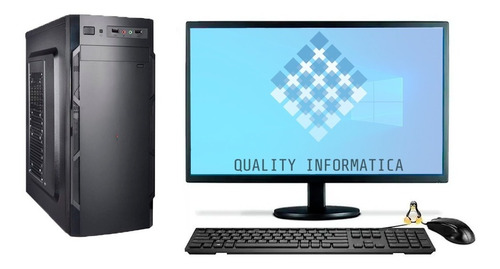 Imagem 1 de 2 de Pc Computador Cpu  I5 4 Geração + Ssd 240gb, 8gb  Monitor 19