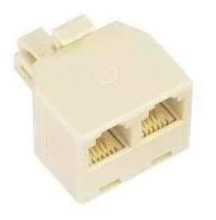 Adaptador Telefónico 1 Plug A 2 Jacks De 4 Hilos (25pzs)