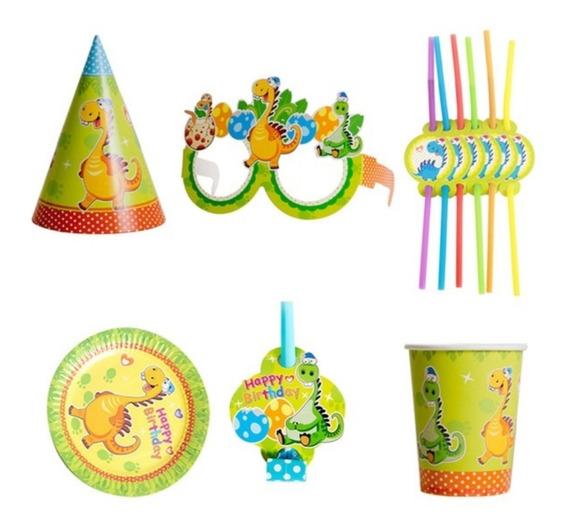 Cotillon Fiestas Infantiles Kit X 36 Dinosaurios Y Unicornio
