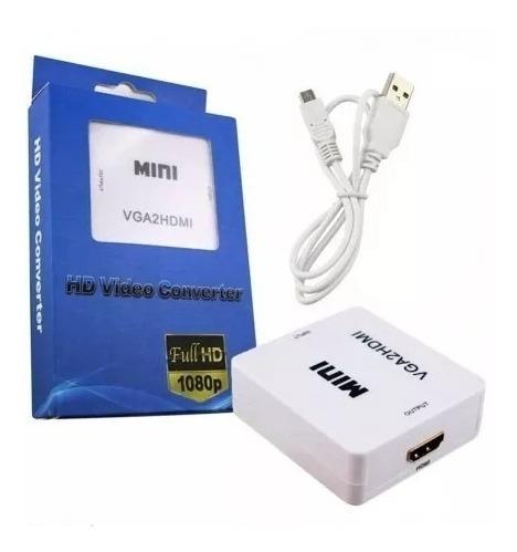 Convertidor De Video De Vga A Hdmi Pc Tv Laptop Ps3