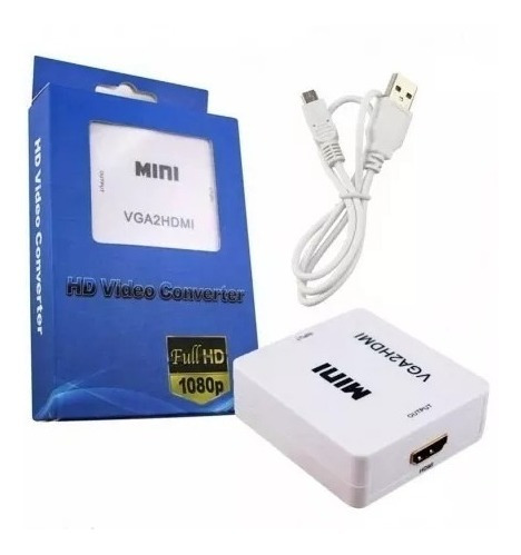 Convertidor De Video De Vga A Hdmi Pc Tv Laptop Ps3