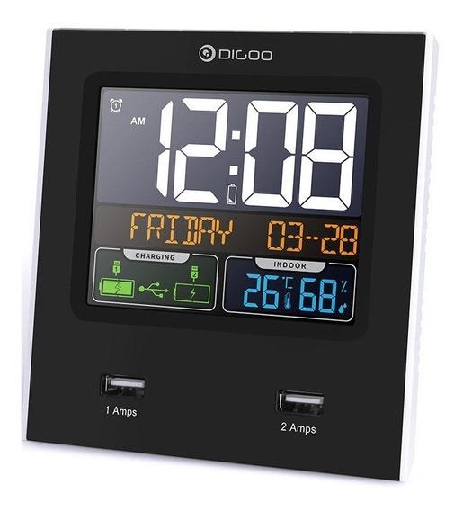 Relógio Digital Digoo Dg C3x Despertador Previsão Do Tempo
