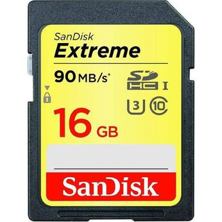 Cartão De Memoria Sd 16gb Sandisk Extreme 90mb/s Original