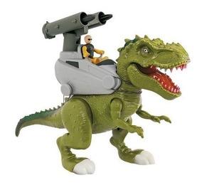 Dinossauro Rex Attack Lança Míssil Marrom - Adijomar