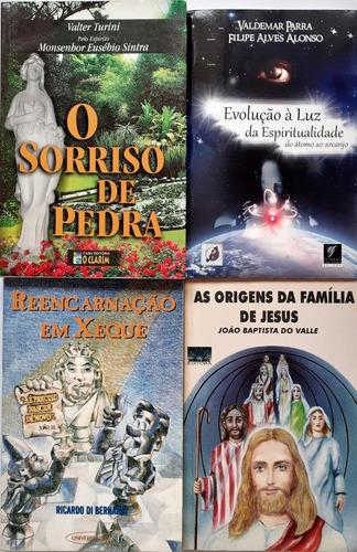 4 Livros Espiritas - Evolucao A Luz Da Espiritualidade + 3