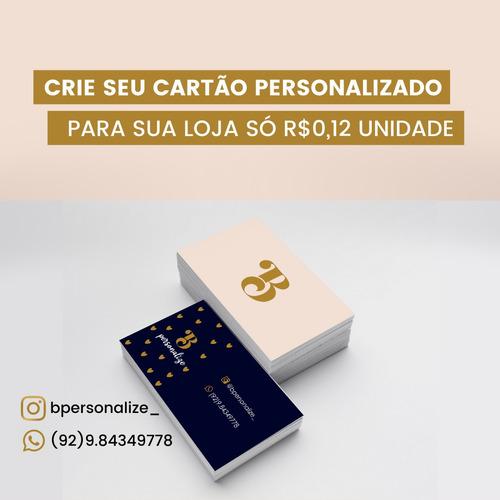 Imagem 1 de 1 de Cartão Visita Couchê 1000 Und 4x4 Arte Grátis Personalizada