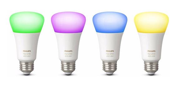 Kit Com 4 Lampadas Philips Hue Colorida 3a Geração