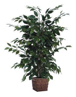 Arbol Planta Artificial Ficus En Cesta Decorativa 4 Pies