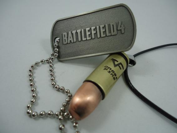 Corrente Masculina Cordão Militar Game Bf4 Cross Fire