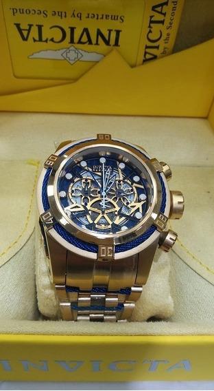 Relógio Kkw8501 Invicta 12900 Bolt Skeleton Dourado Outlet