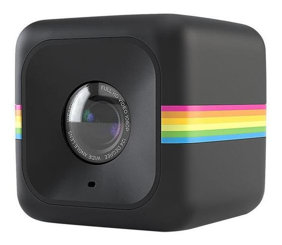 Câmera De Ação Full Hd Cube Polaroid Preta Polcubelsbk