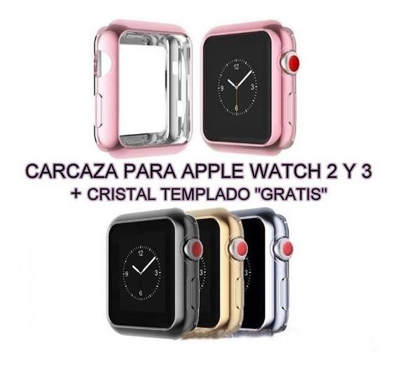 Carcasa Protector Funda + Cristal Regalo Apple Watch 2 Y 3