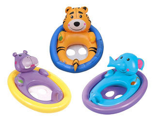 Asiento Flotador Inflable Sonido Animalitos Bestway Pileta