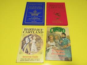4 Livros Antigos Da Barbara Cartland 2 Capa Dura
