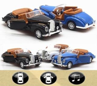 Autos Vintage Metálico Sonido Y Luz, Escala 1:36, Exclusivos