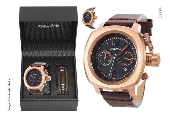 Relógio Magnum Masculino Kit Com Pulseira Ma34129c