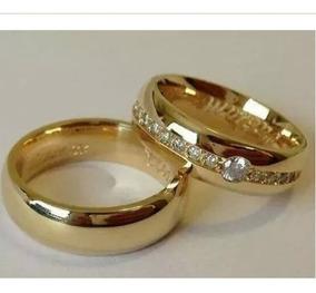 Aliança Feminina De Ouro 18k Amor Amor Mais Diamantes