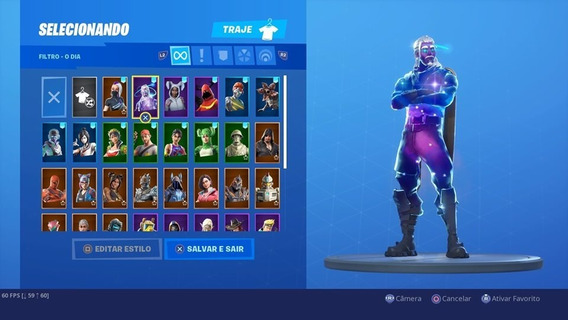 Traje Comta Galaxy Skin Fortnite Pc Xbox Ps4 Mobile