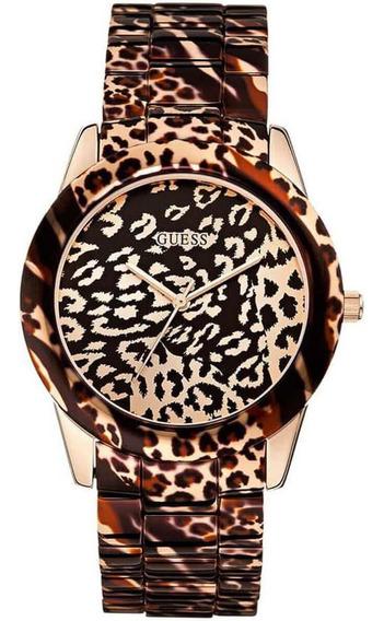 Relógio Feminino Guess Analógico 92527lpgsra1 Animal Print
