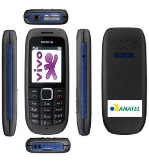 Celular Nokia 1616,2g , Bloqueado Só Pega Vivo (não Pega Nada Em Minas Gerais), Idoso, Lanterna, Relógio Falante, Novo
