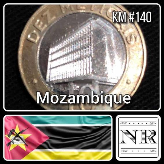 Mozambique - 10 Meticas - Año 2006 - Km # 140 - Edificio Bcm - Bimetalica