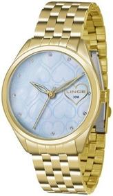 Relógio Analógico Feminino Lince Dourado Lrg4345l A1kx Lindo