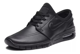 Tênis Nike Sb Stefan Janoski Max Preto Skate Couro Original!