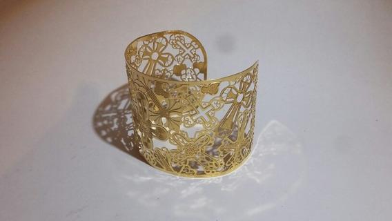 Brascelete Semijóia Banhada A Ouro 18k