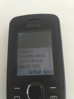 Celular Desbloqueado Nokia 110 Rm827 Display Quebrou
