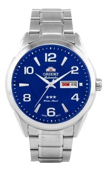 Relógio Orient Masculino Automático Aço Azul 35283
