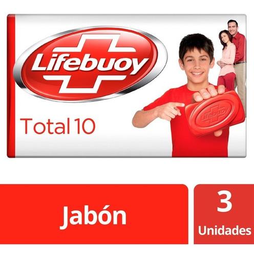 Lifebuoy Jabón Antibacterial Total10 X125g